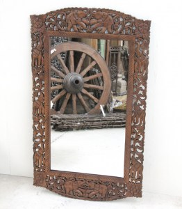 LS15 Handcarved Mirror - Natural